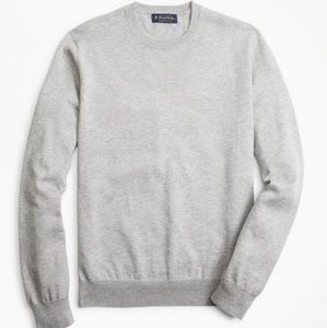 Brooks Brothers supima cotton sweater grey XL NWT